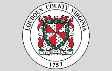 Loudoun County seal with grey background