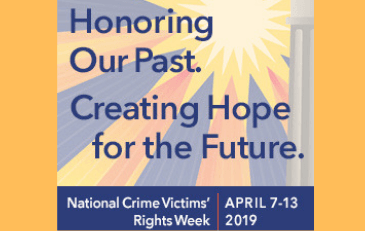 Image of 2019 Crime Victims Rights Week Logo
