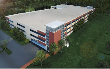 Image of rendering of Pennington Parking Garage