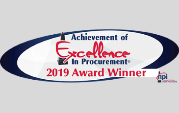 Image of 2019 Achievement of Excellence in Procurement Award