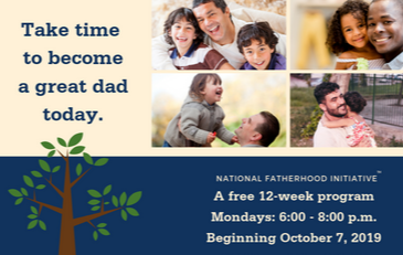 Image of graphic for Fatherhood Initiative classes October 2019