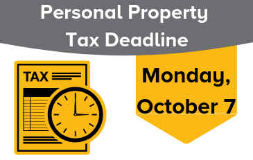 Image of Personal Property Tax Deadline Graphic