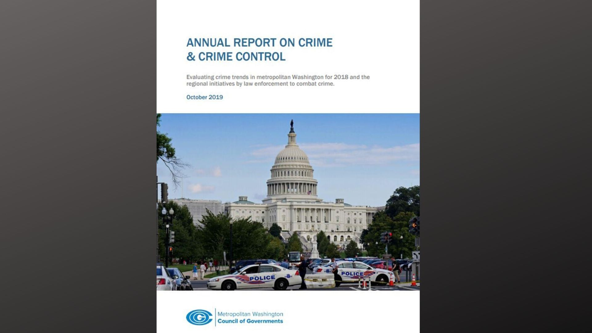 Annual repport on Crime and Crime Control Canva