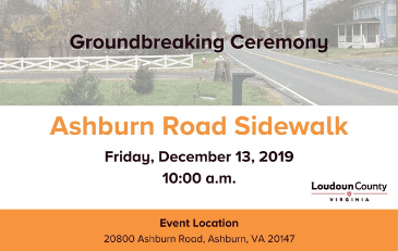Image of Ashburn Sidewalk Groundbreaking Invitation