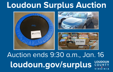 Image of items for sale in the Loudoun surplus auction
