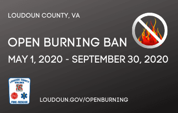 OPEN BURNING BAN Newsflash