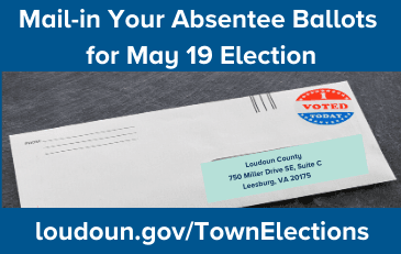 Image of Absentee Ballot in Envelope for Mailing