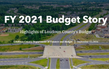 Image of Screeenshot from Online Loudoun County FY 2021 Budget Story