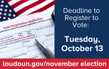 Image of Voter Registration Application with October 13 Deadline