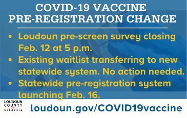 Link to information about COVID-19 vaccine in Loudoun County and Virginia