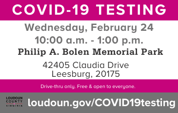 Link to information about COVID-19 testing in Loudoun County